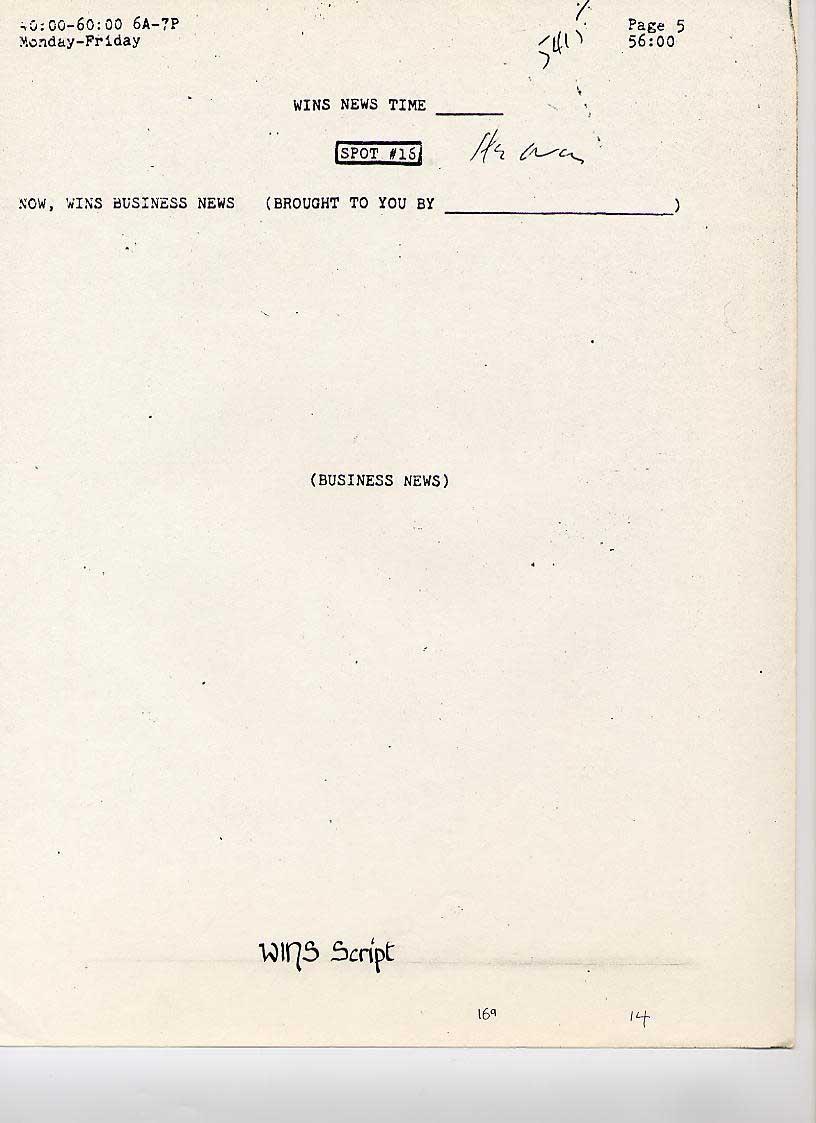 WINS News Scripts, 1978